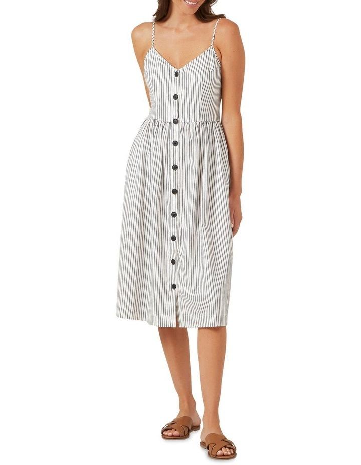 Button Down Stripe Midi Dress image 2