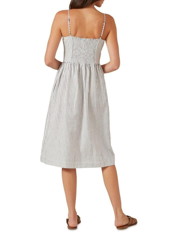 Button Down Stripe Midi Dress image 3