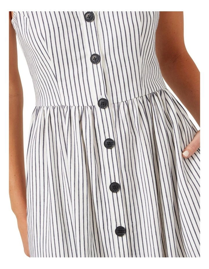 Button Down Stripe Midi Dress image 5