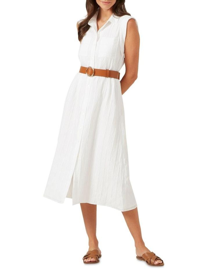 Belted Shirt Midi Dress image 1