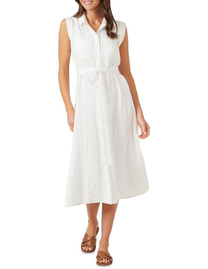 Belted Shirt Midi Dress image 2