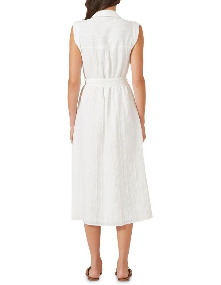 Belted Shirt Midi Dress image 3