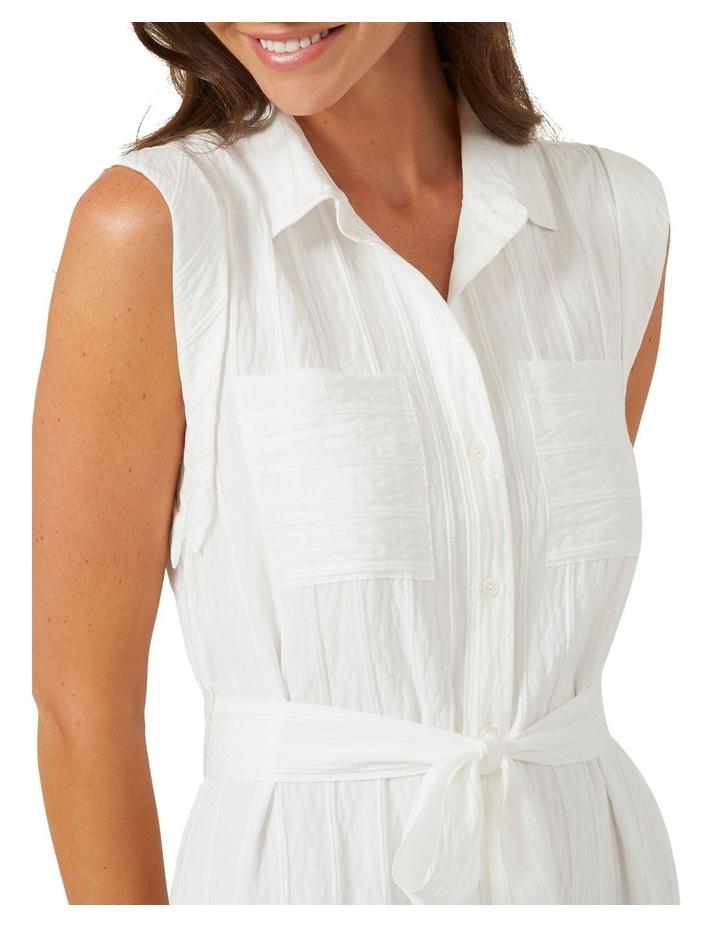 Belted Shirt Midi Dress image 4