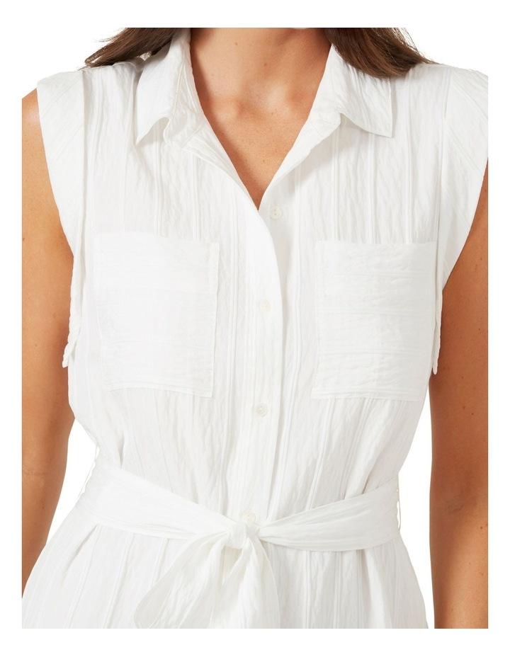Belted Shirt Midi Dress image 5