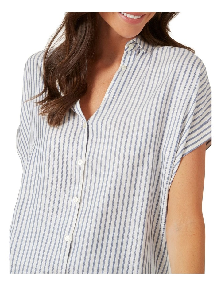Washed Stripe Button Down Shirt image 4
