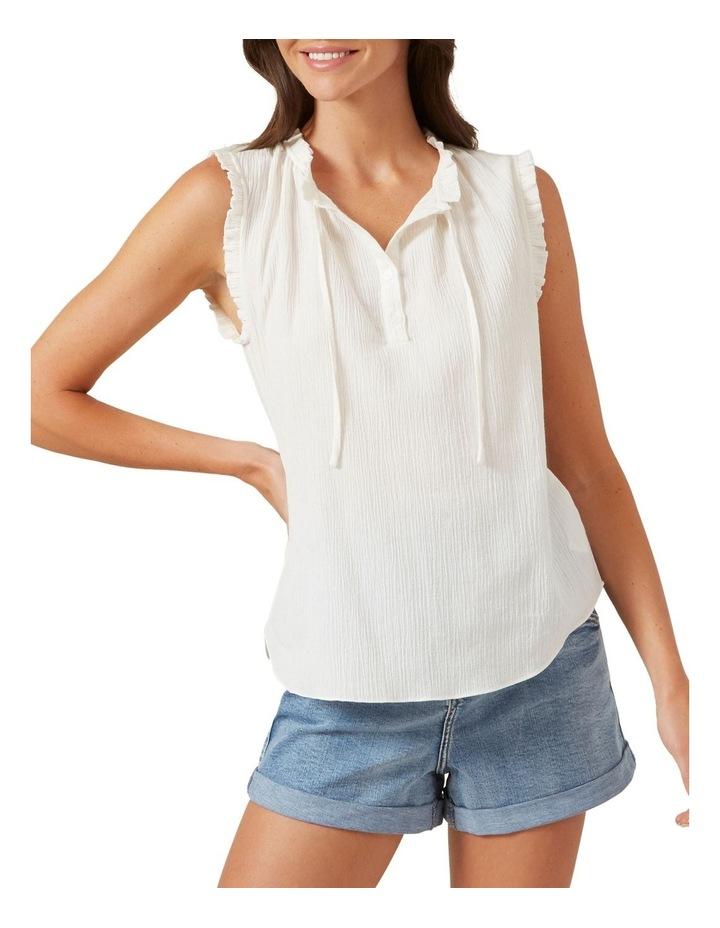 Ruffle Detail Sleeveless Shirt image 1
