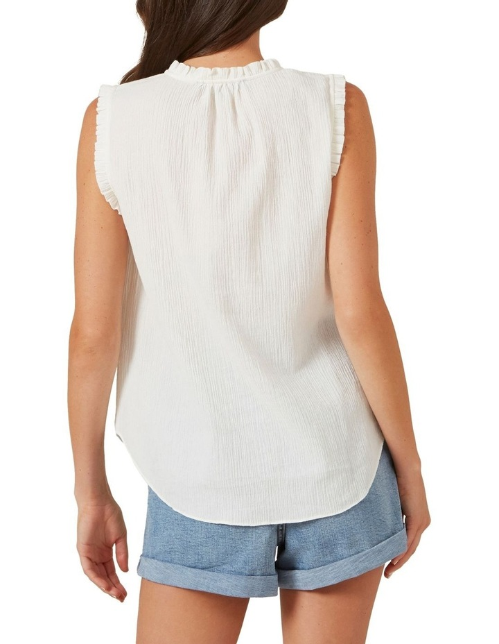 Ruffle Detail Sleeveless Shirt image 3