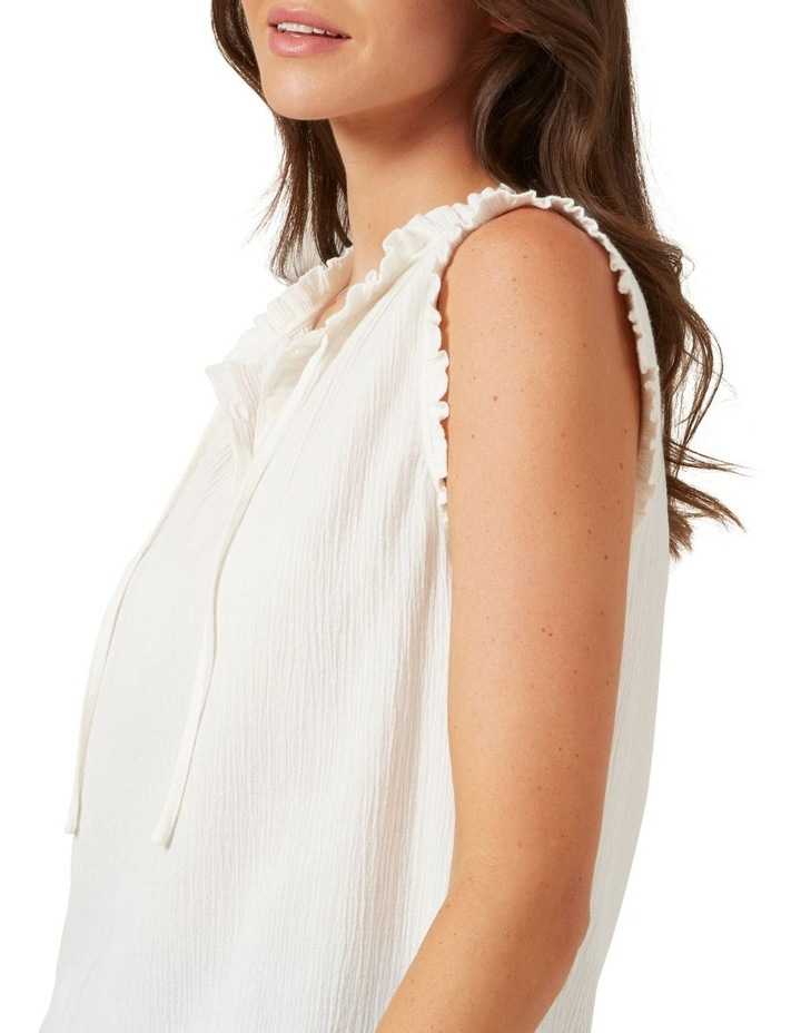Ruffle Detail Sleeveless Shirt image 4
