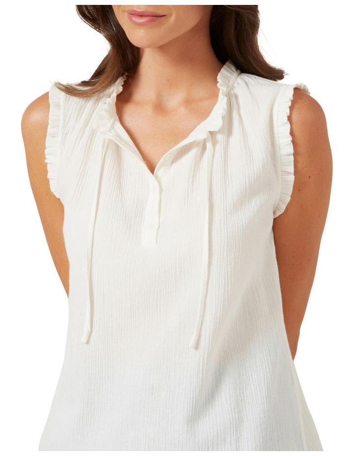 Ruffle Detail Sleeveless Shirt image 5