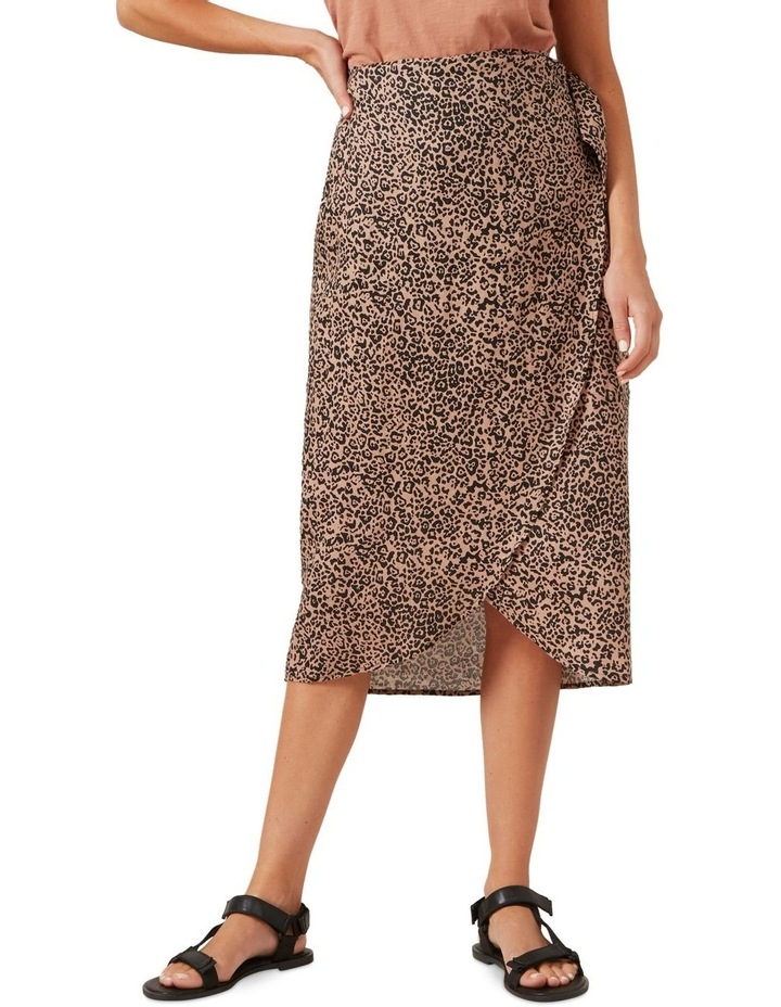 Linen Animal Wrap Skirt image 1