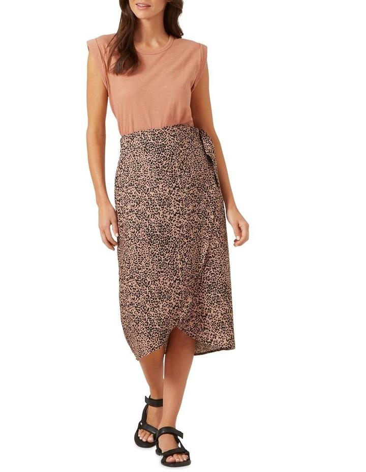 Linen Animal Wrap Skirt image 2