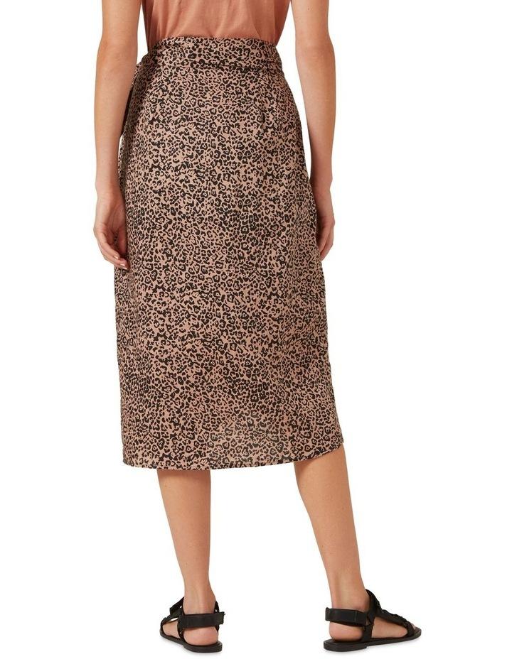 Linen Animal Wrap Skirt image 3