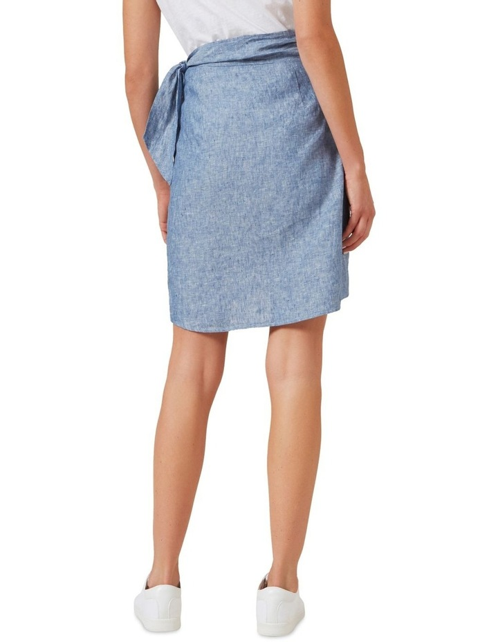 Linen Wrap Mini Skirt image 3