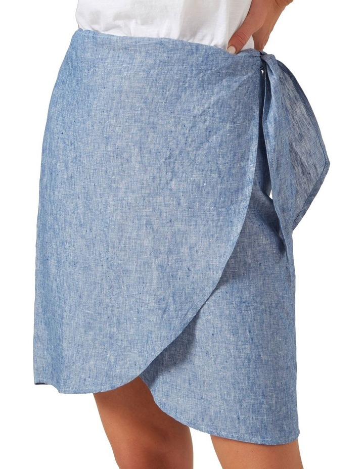 Linen Wrap Mini Skirt image 4