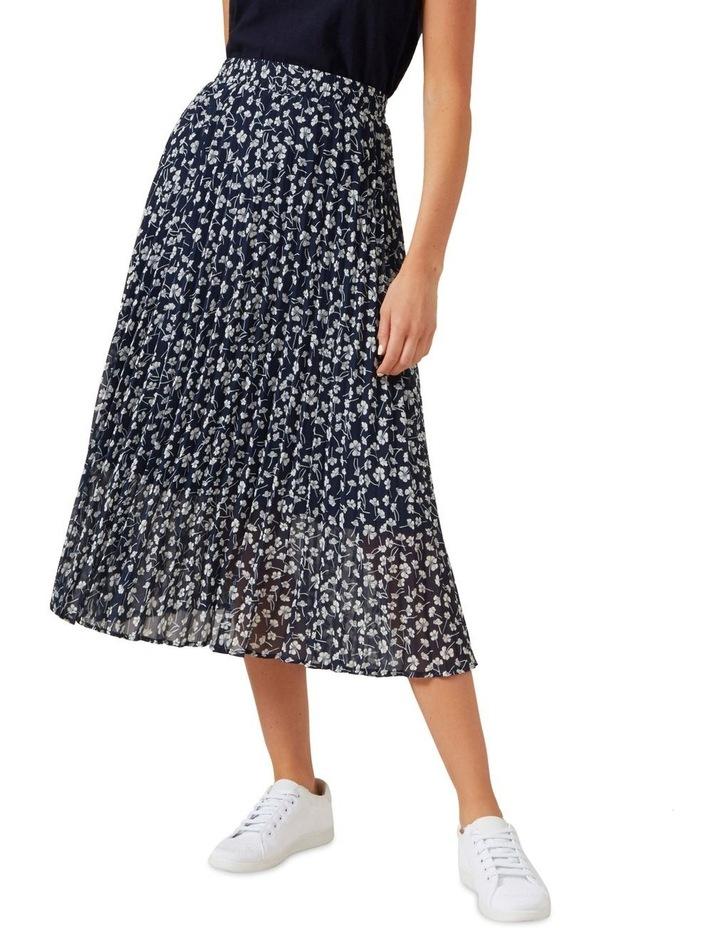 Floral Pleated Midi Skirt image 1
