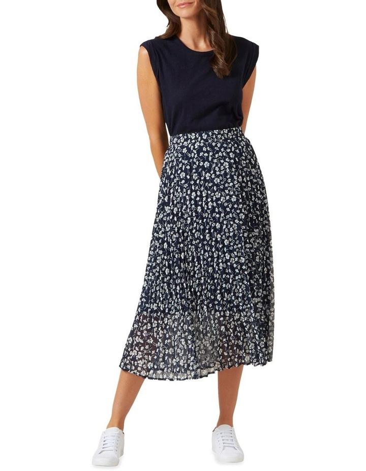 Floral Pleated Midi Skirt image 2