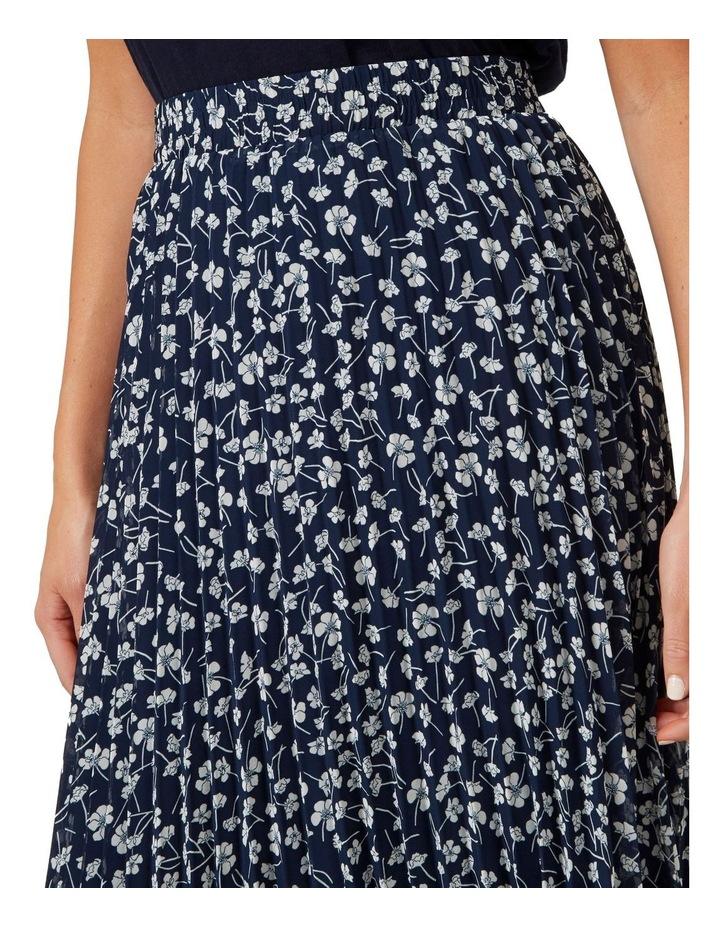 Floral Pleated Midi Skirt image 4