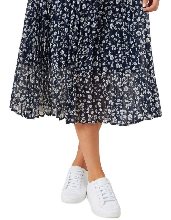 Floral Pleated Midi Skirt image 5
