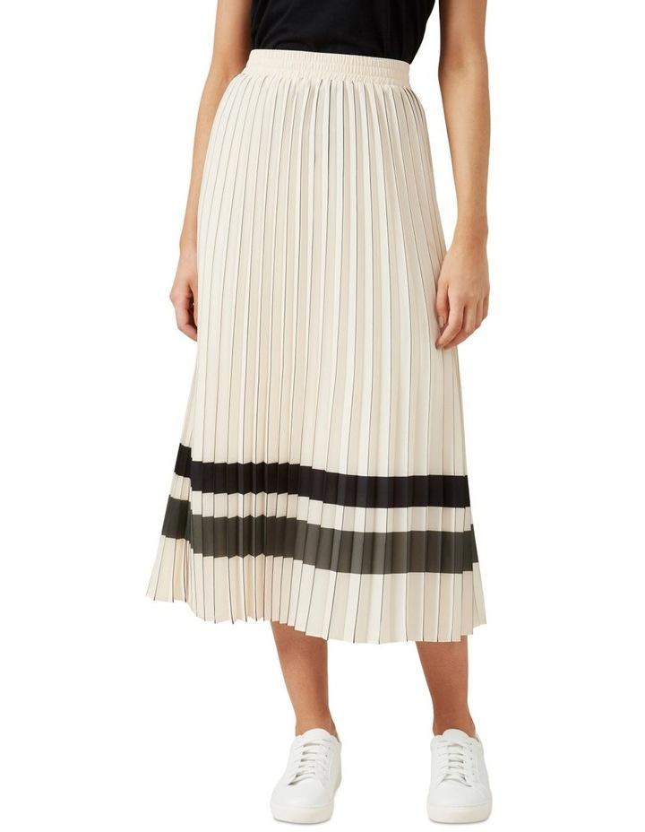 Stripe Pleated Midi Skirt image 1