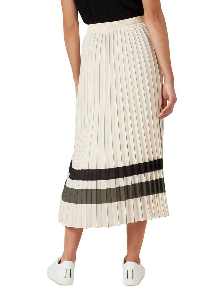 Stripe Pleated Midi Skirt image 3