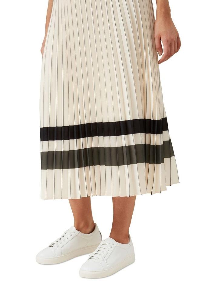 Stripe Pleated Midi Skirt image 4