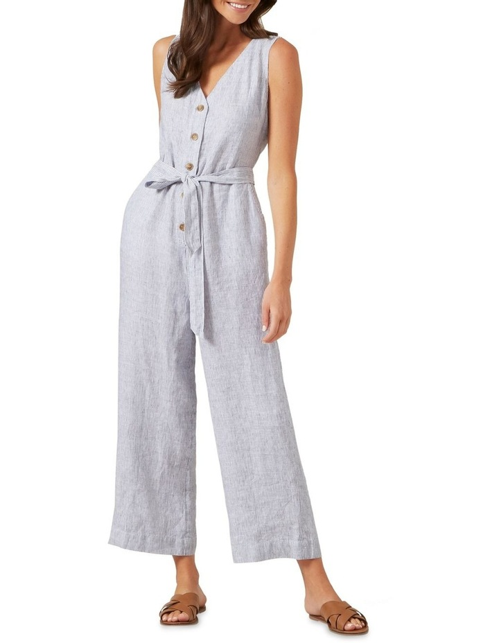 Stripe Linen Jumpsuit image 1