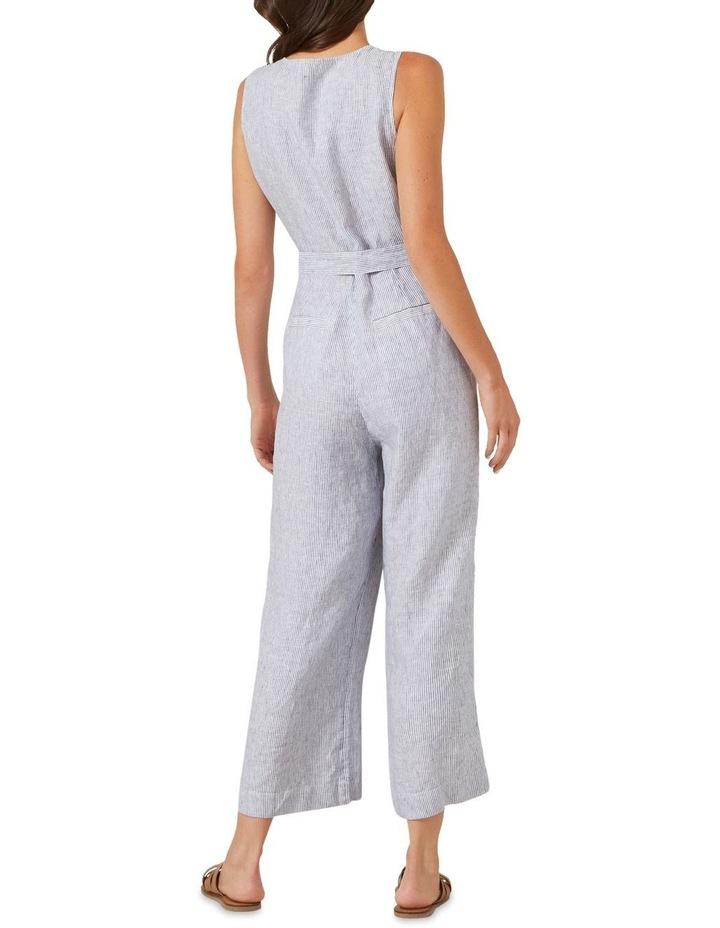 Stripe Linen Jumpsuit image 2