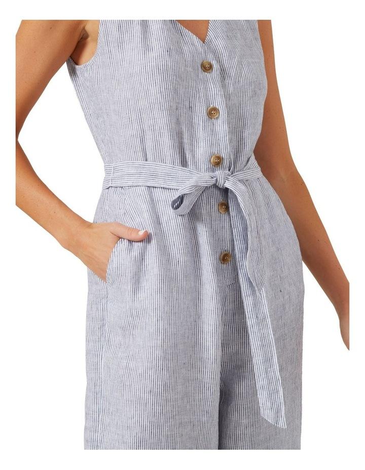 Stripe Linen Jumpsuit image 3