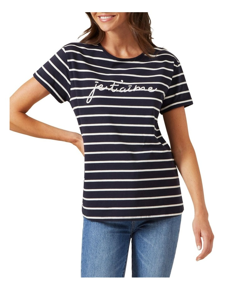 Je'taime Embroidered T Shirt image 1