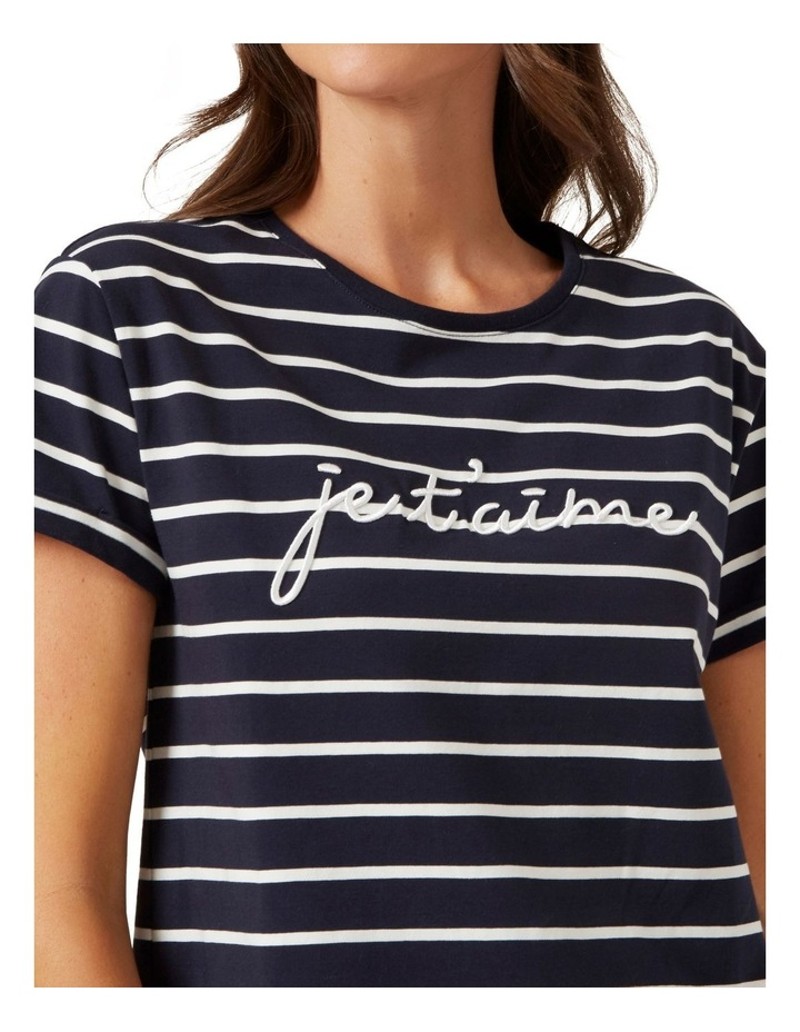 Je'taime Embroidered T Shirt image 4