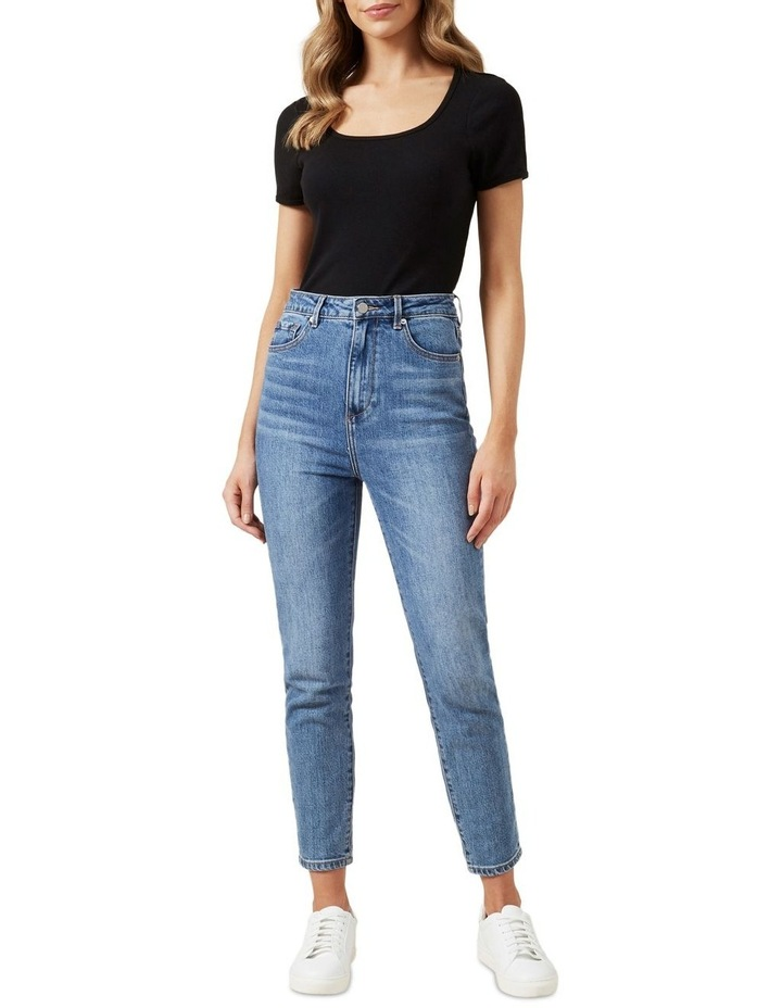 Wide Scoop Ribbed T Shirt image 2