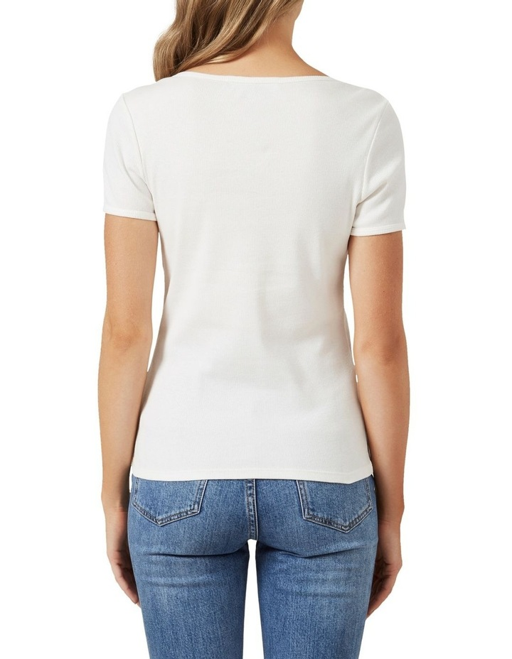 Wide Scoop Ribbed T Shirt image 3