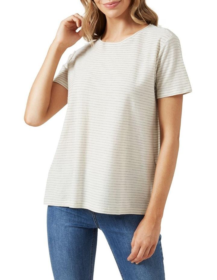 Stripe Textured T Shirt image 1