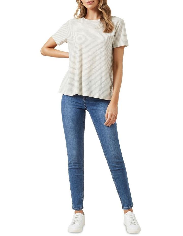 Stripe Textured T Shirt image 2