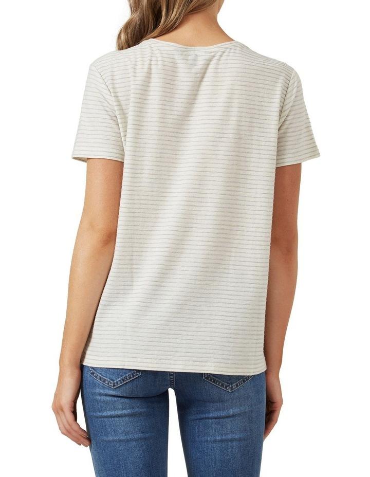 Stripe Textured T Shirt image 3
