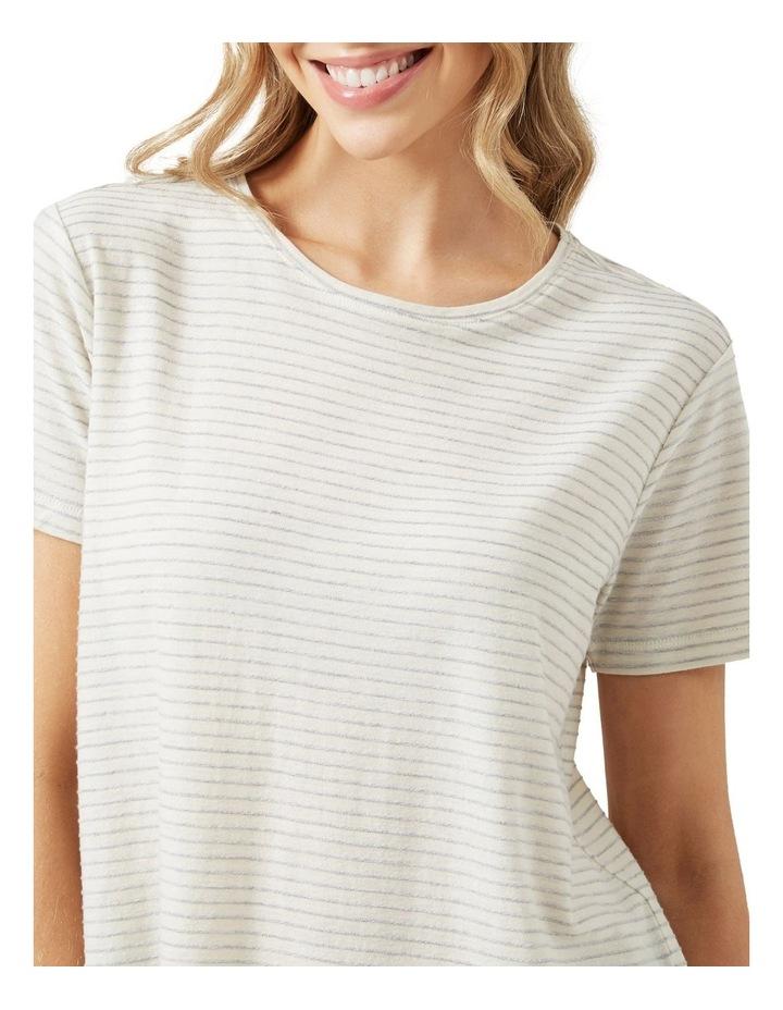 Stripe Textured T Shirt image 4