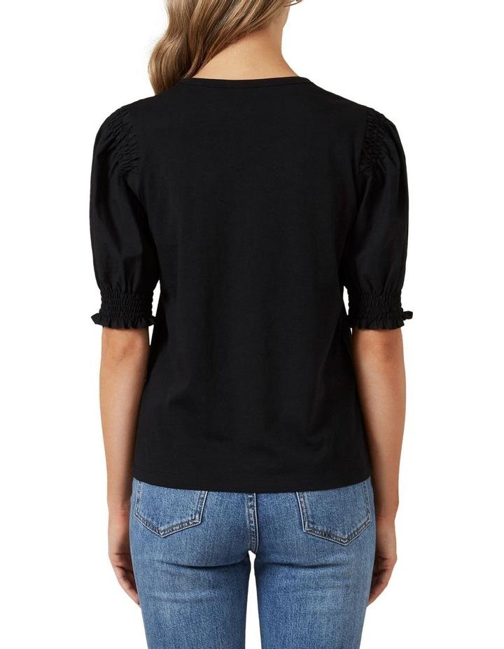 Puff Sleeve Shirred T Shirt image 3