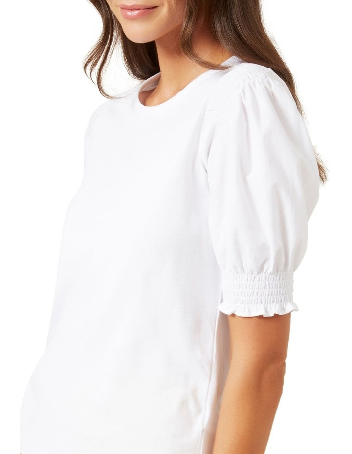 Puff Sleeve Shirred T Shirt image 4