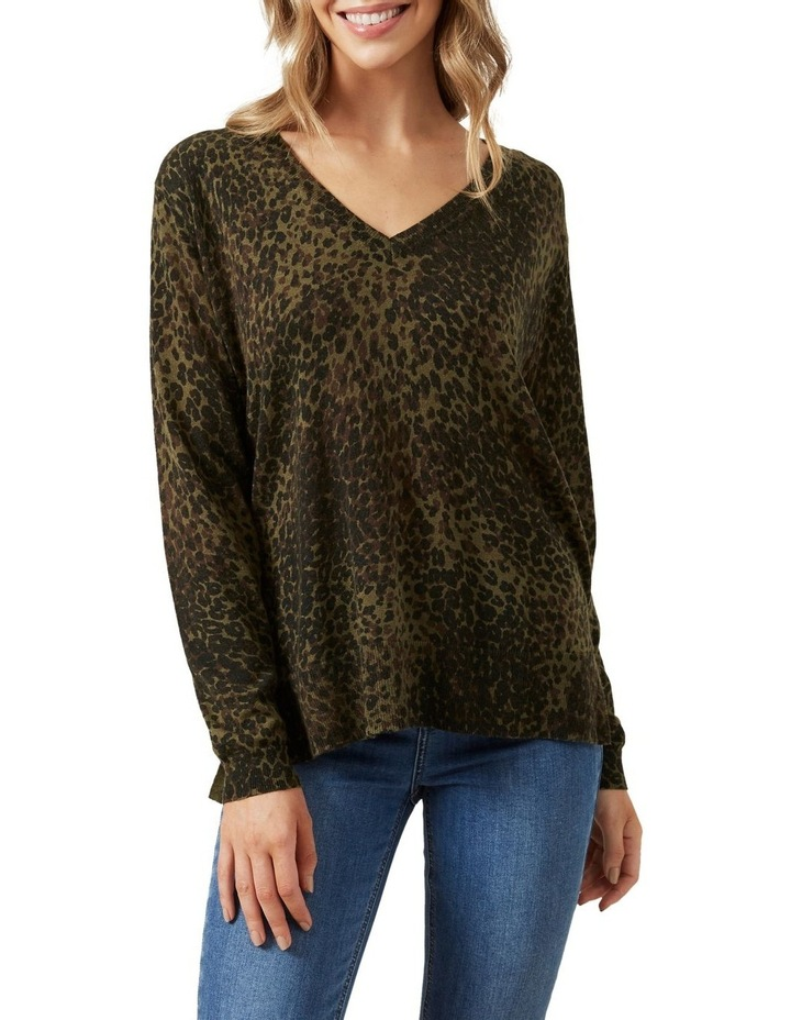 Khaki Animal Knit image 1