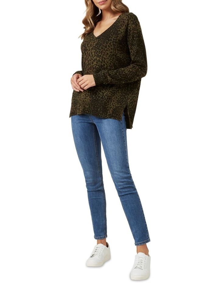 Khaki Animal Knit image 2
