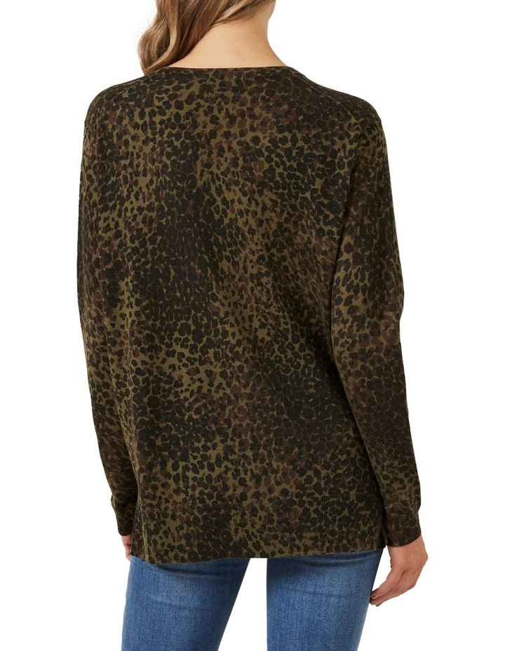 Khaki Animal Knit image 3