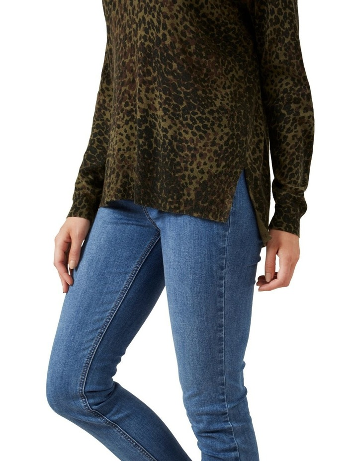 Khaki Animal Knit image 4