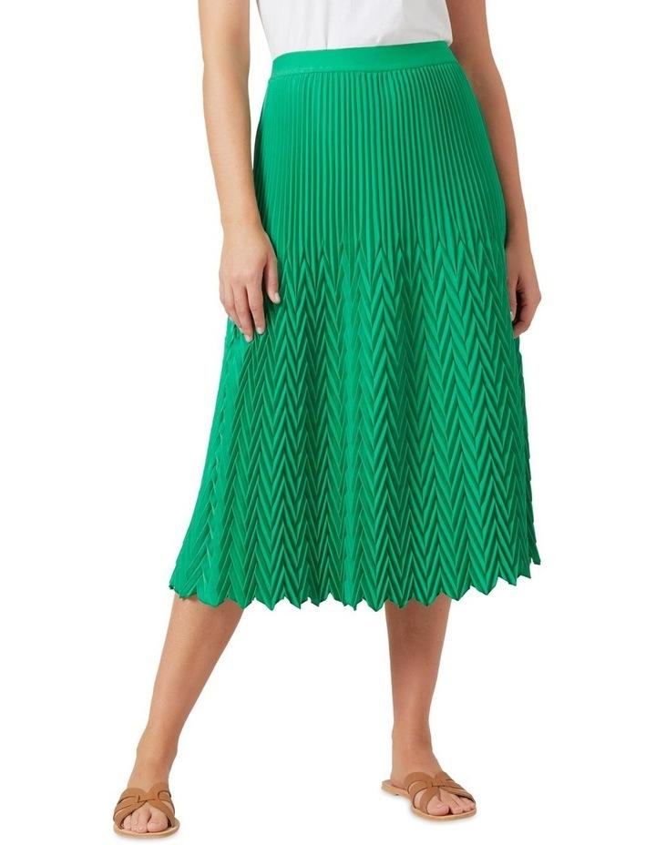 Chevron Pleated Skirt image 1