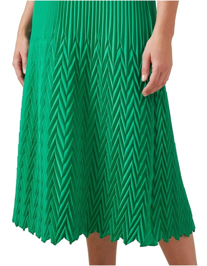 Chevron Pleated Skirt image 4