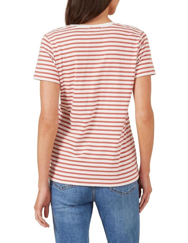 Classic Stripe Scoop Neck Tee image 3