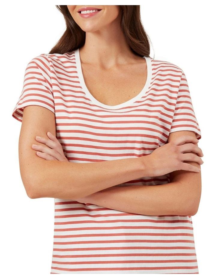 Classic Stripe Scoop Neck Tee image 4
