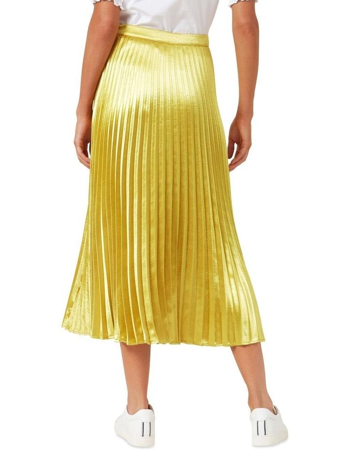 Metallic Pleated Skirt image 3