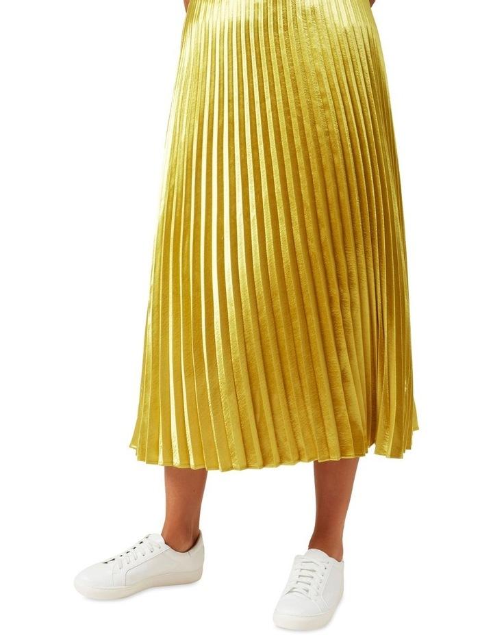 Metallic Pleated Skirt image 4