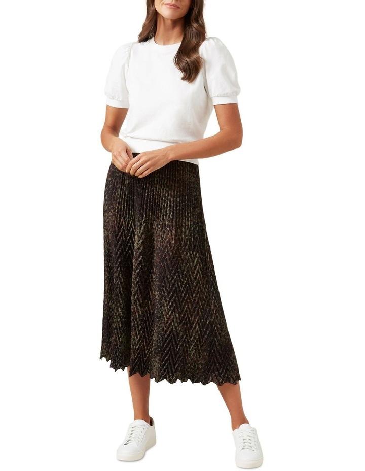Chevron Midi Skirt image 2