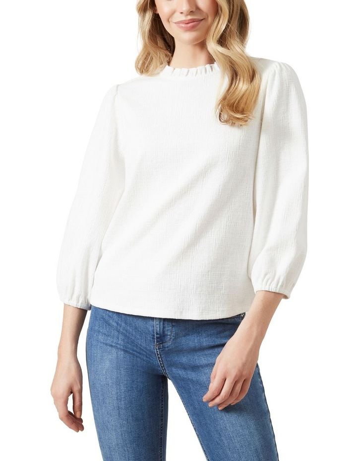 Textured Frill Neck Top image 1